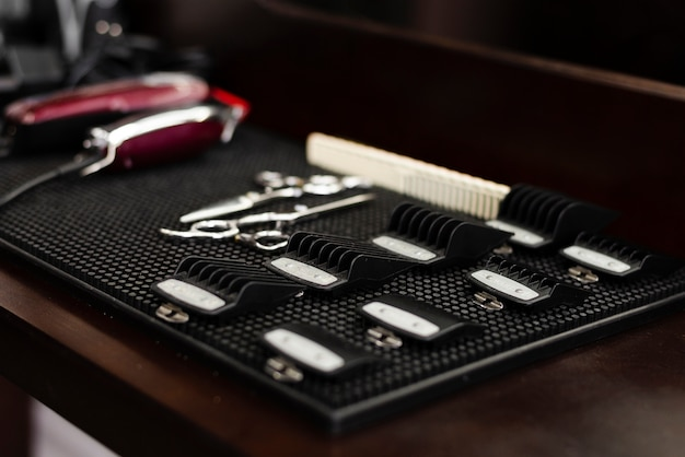 Sideways professional barber shop essentials