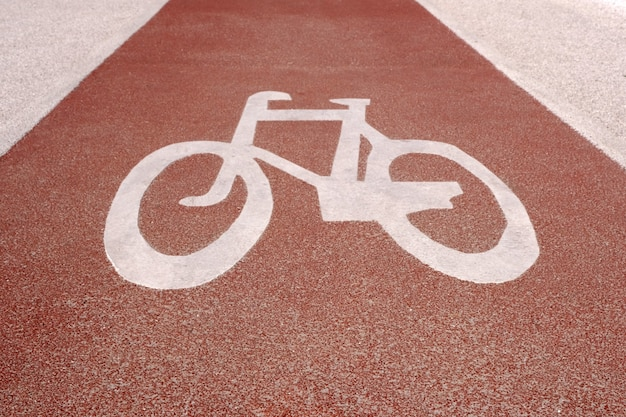 Sign bicycle path