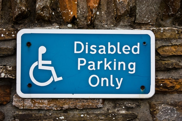 Sign for disable parking, useful for concepts