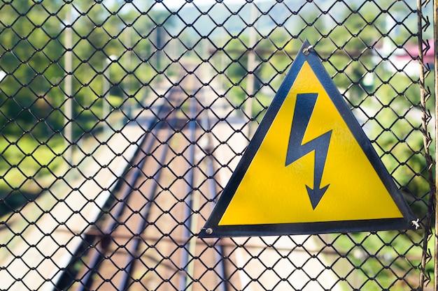 Sign high voltage.