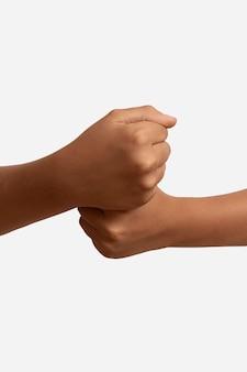 Sign language symbol isolated on white