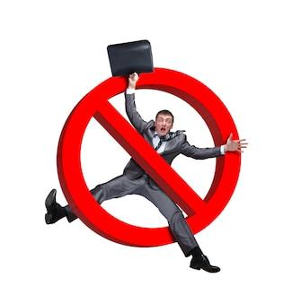Sign no businessman Premium Photo