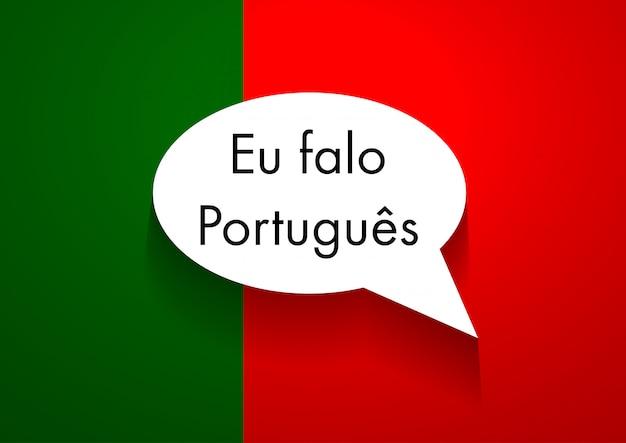 Sign speaking portuguese