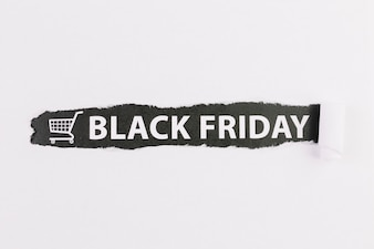 Sign with black Friday inscription