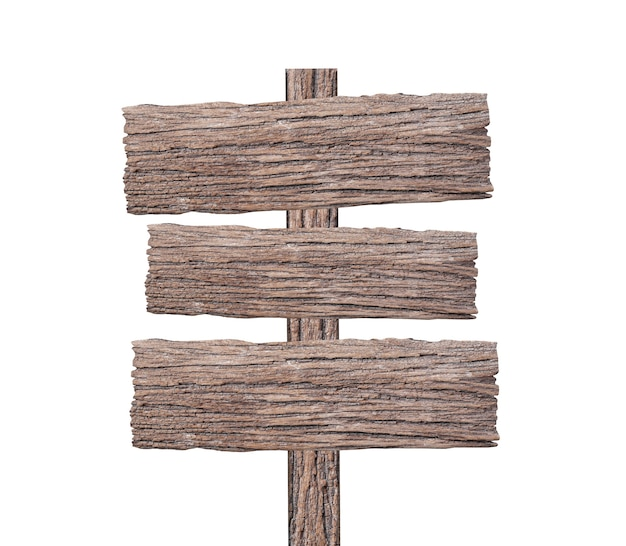 Sign wood isolated on white
