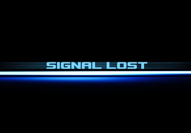 Signal lost text blue underlined illustration