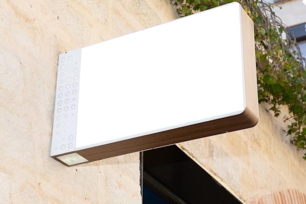 Signboard shop mock up square shape store front display