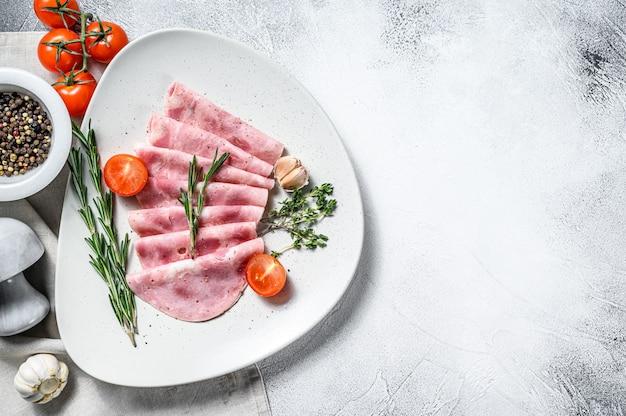 Siiced ham sausage