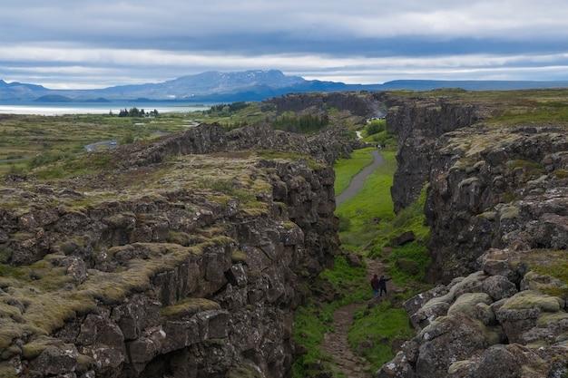 Разлом сильфра в тингвеллире, исландия