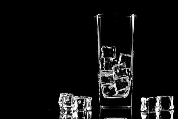 Silhouette of drinking glass. empty glass silhouette isolated