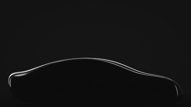 Silhouette of an executive class sedan car. automotive.