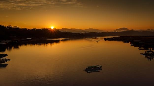 Silhouette landscape morning sunrise