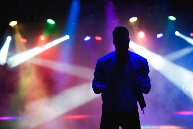 Silhouette of male dancer