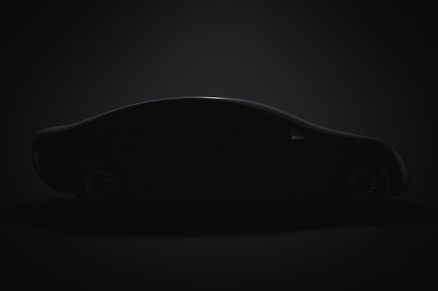 Silhouette of a prototype passenger car. side view.