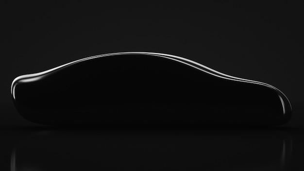 Silhouette of an unrecognizable car. business sedan.
