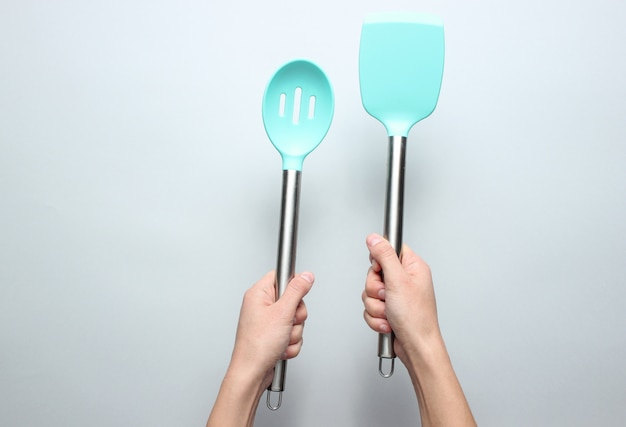 Silicone paddles for cooking
