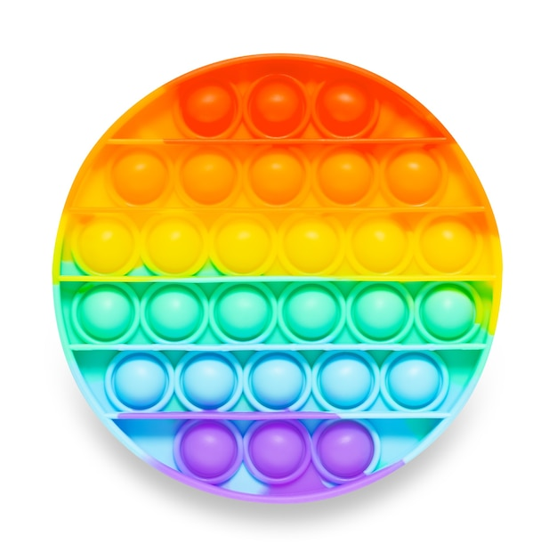 Silicone toy pop it for bursting bubbles in shape of circle