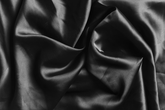Silk fabric black material for home decoration