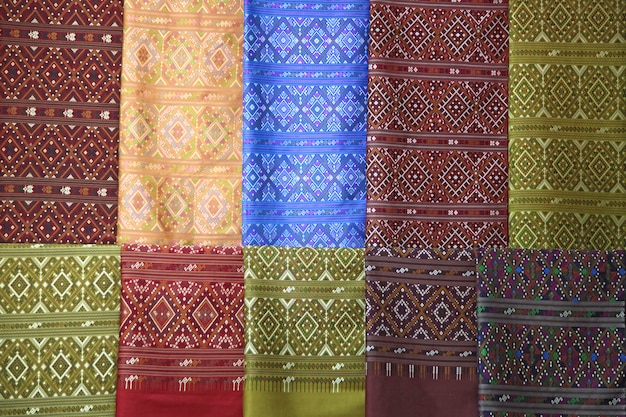 Silk fabric cloth background