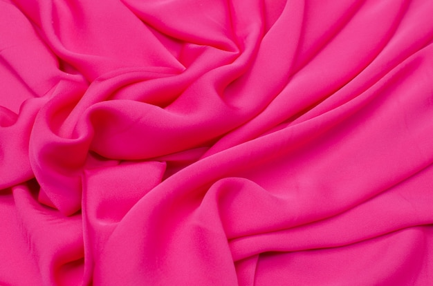 Silk fabric, crepe de chine pink