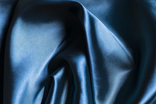 Silk fabric dark blue material for home decoration