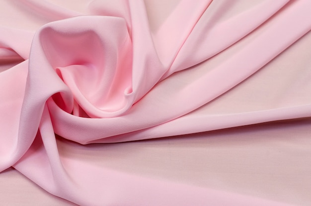 Silk fabric, light pink crepe de chine
