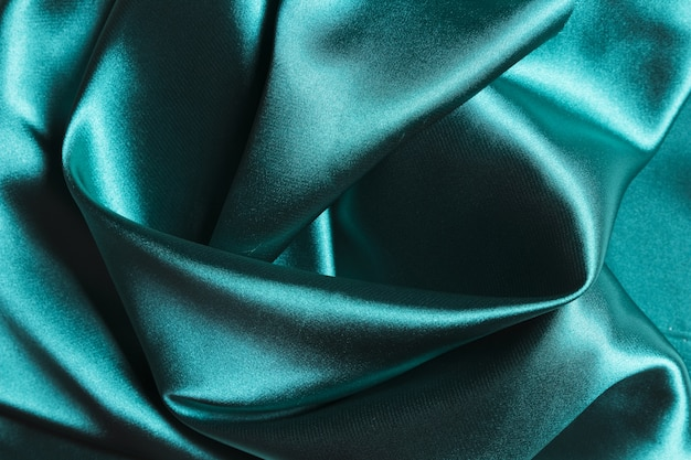 Silk fabric ocean blue material for home decoration