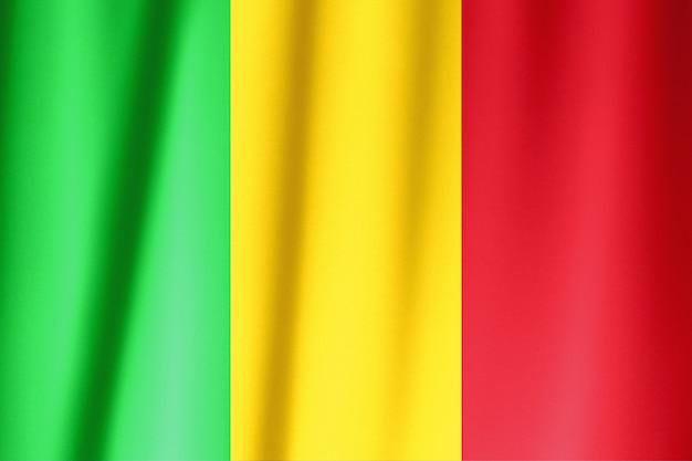 Шелковый флаг мали. мали флаг шелковой ткани.