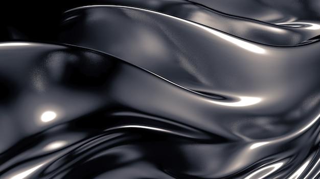 Шелк или ткань с металлическими рефлексами фона 3d рендеринга