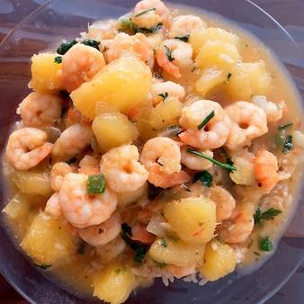 Silly shrimp (bobo de camarao), brazilian dish made with shrimp and cassava. manioc soup
