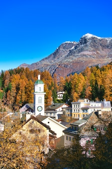 Sils maria village in the engadine valley near sankt moritz sxizzera