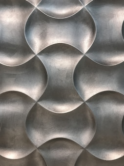Silver 3d interior decorative wall panel with unusual geometric shape background