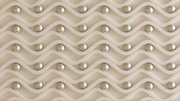 銀の建築、インテリアパターン、白い壁のテクスチャ。 3dレンダリング。