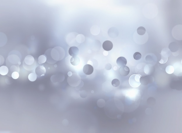 Silver blur abstract background with bokeh effect