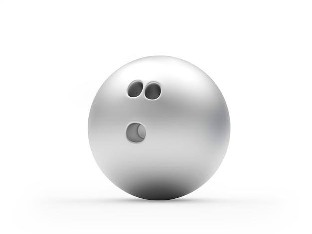 シルバーボウリングボール