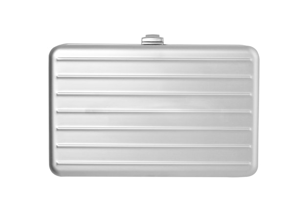 Silver briefcase isolated on white