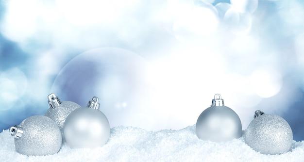 Серебряные новогодние шары