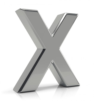 Silver letter x