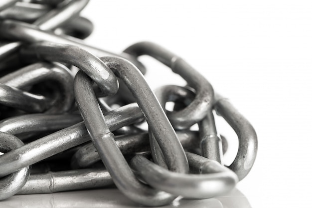 Silver metal chain