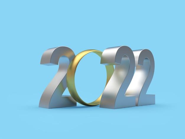 Серебряный номер 2022 с золотым обручальным кольцом