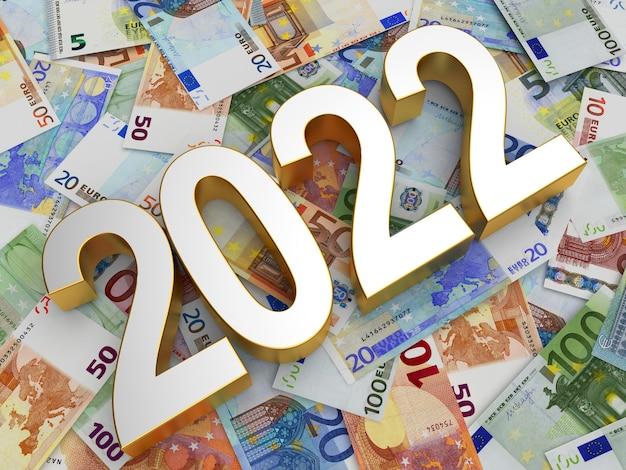 Серебряный номер новый год на различных банкнотах евро