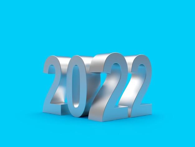 Серебряные числа нового года Premium Фотографии