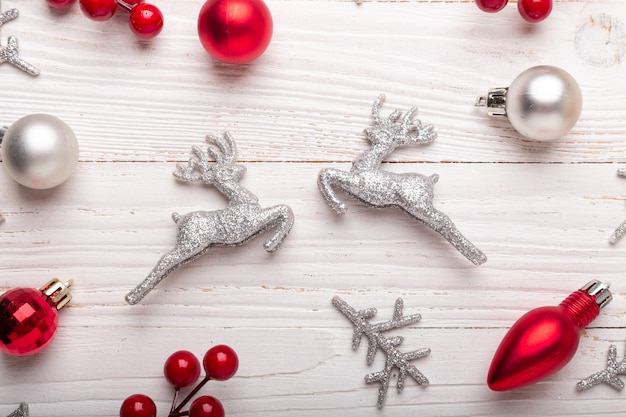 Silver red christmas gifts
