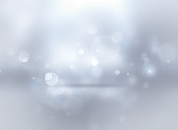 Silver shining christmas background with bokeh effect
