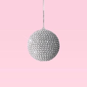 핑크에 실버 빛나는 크리스마스 값싼 물건 장식