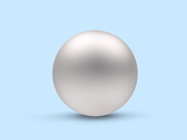 銀球のクローズアップ