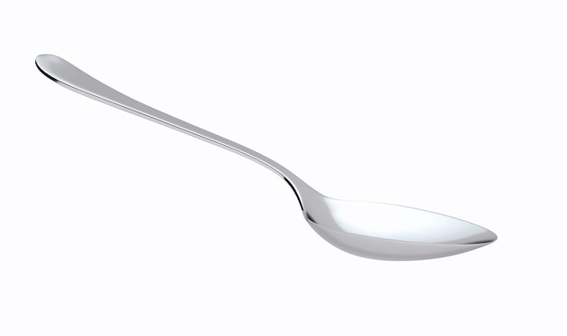 Silver spoon isolated
