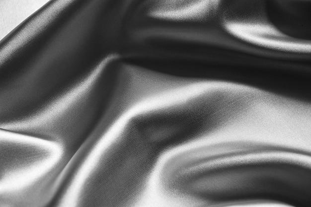 Silver wavy silk background texture