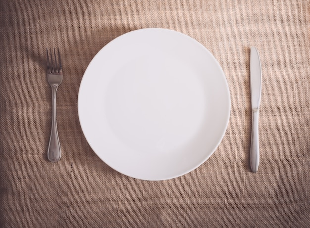 Silverware dinner with table setting