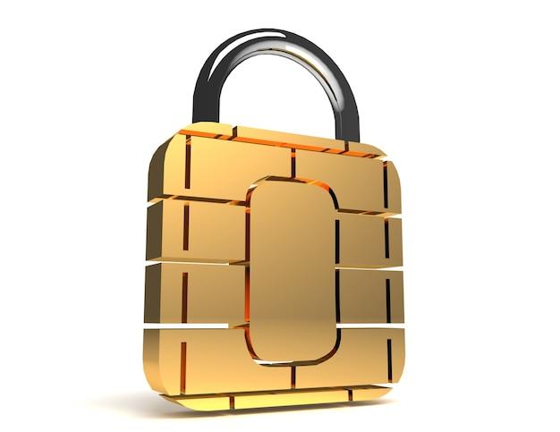 Концепция безопасности sim-карты или кредитной карты